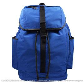 ~  價~BURBERRY LOGO尼龍帆布硬式束口大後背包.藍 價 18 800