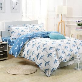 ~送保潔墊~~鴻宇~HONGYEW~純棉系列 ikea風格 日系小語~雙人四件式薄被套床包
