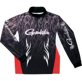 ◎百有釣具◎GAMAKATSU 2WAY(雙面)印刷防曬拉鍊衫(長袖)GM-3418 規格:L/LL 排汗速乾,腋下網狀通風設計,抗UV90%以上