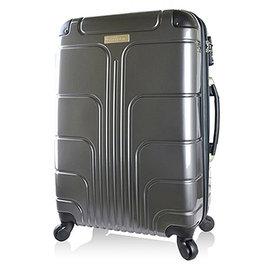 ~Luggagezone~ 流線PC鏡面防水拉鍊海關鎖24吋行李箱~鐵騎灰