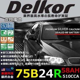☼ 台中苙翔電池 ►德爾科 Delkor 銀鈣合金75B24R 58Ah SX4 SWIF