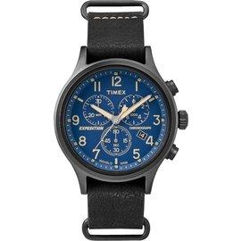 ~時間光廊~TIMEX 天美時 全黑 海軍藍 三眼計時秒錶 復刻系列  貨 TW4B042