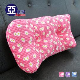 花漾超厚實3D舒適靠腰枕 舒壓枕 紅色  立體靠背枕頭 護腰枕 靠枕 坐墊 抱枕 居家健康