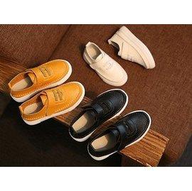 男童軟皮皮鞋 休閒鞋 豆豆鞋 男童鞋 中童鞋26~30