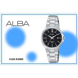 ~時間道~むALBA~錶め科技 魅力腕錶^(小^) 黑面^(VJ22~X226D AH7J
