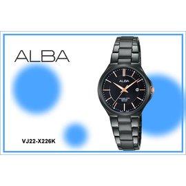 ~時間道~むALBA~錶め科技 魅力腕錶^(小^) 黑面黑鋼^(VJ22~X226K AH