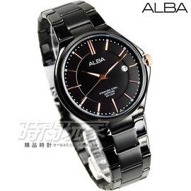 ALBA雅柏 劉以豪代言 都會 腕錶 藍寶石水晶 男錶 IP黑電鍍x玫瑰金 AS9C07X