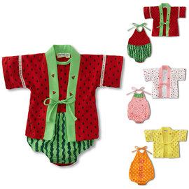 ^~^~男女童可愛西瓜草莓向日葵肚兜兩件式套裝