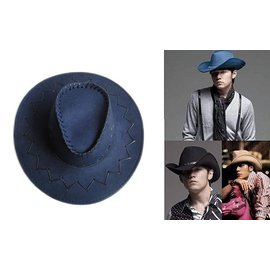 ~海倫精坊~防曬用品~仿麂皮遮陽深藍色牛仔帽,單車郊遊登山^( 180元^)男女適 K16