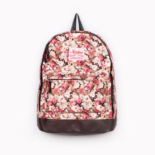 【黑皮酱】krabag 后背包 大容量/双肩后背包 玫瑰年代款 backpack