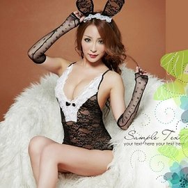 迷情黑兔女郎角色扮演P221-CF-20151205 (兔子角色扮演服裝耶誕COSPLAY變裝派對吊帶連身情趣服裝性感丁字褲蕾絲網紗聖誕節情人節)