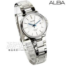 ALBA雅柏 劉以豪代言 都會 腕錶 藍寶石水晶 女錶 銀x白面 AH7J67X1~VJ2