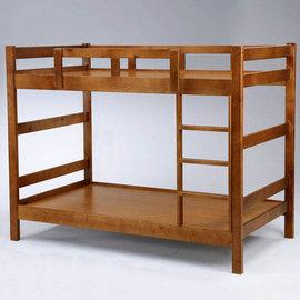 Homelike 米克3.5尺雙層床~淺胡桃色 床架 單人床 床組 床台 上下舖 兒童床