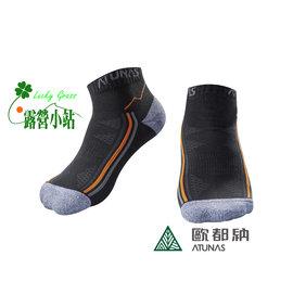 大林小草~【A-A1502-黑】Atunas 歐都納 COOLMAX 布料 抗菌休閒短襪-【國旅卡】