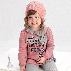 ~捷比 ~PORSENCE波紳士~J22526~ 製~甜心女孩音符圖案拓印條紋傘狀長版上衣