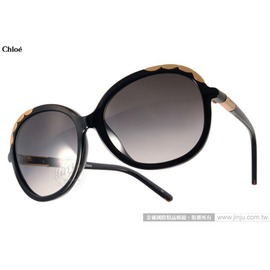 Chloe 太陽眼鏡 CL640SA 001 ^(黑^) 法式典雅氣質女款 墨鏡 ^# 金