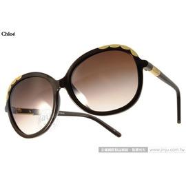 Chloe 太陽眼鏡 CL640SA 210 ^(棕^) 法式典雅氣質女款 墨鏡 ^# 金