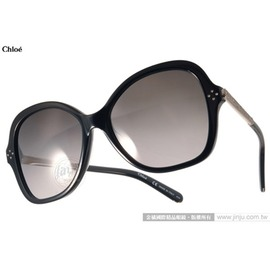 Chloe 太陽眼鏡 CL658SR 001 ^(黑^) 奢華 大框 墨鏡 ^# 金橘眼鏡