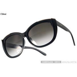 Chloe 太阳眼镜 CL667SA 001 (黑) 高雅时尚微猫眼 墨镜 # 金橘眼镜