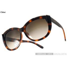 Chloe 太阳眼镜 CL667SA 219 (琥珀) 高雅时尚微猫眼 墨镜 # 金橘眼镜