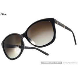 Chloe 太陽眼鏡 CL668SA 001 ^(黑^) 法式 唯美貓眼款 墨鏡 ^# 金