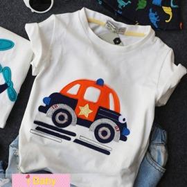 I BABY  男童 兒童 卡通汽車 飛機 上衣 短袖T恤~QA0644~