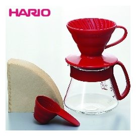 HARIO V60紅色濾杯咖啡壺組1~2杯^(VDS~3012R^)