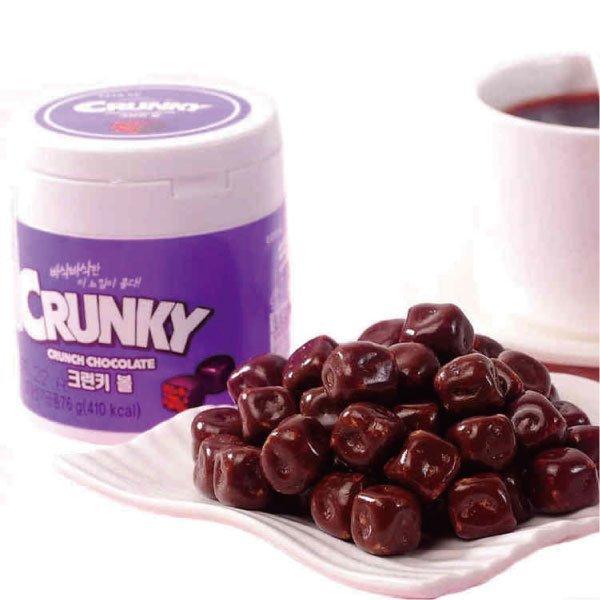 韩国 乐天 crunky 巧克力球 脆米巧克力 76g