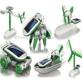 ~A16070101~太陽能智慧6合1玩具組 太陽能 動力 玩具套裝 腦力開發 大小男孩都