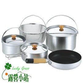 大林小草~【660256】日本UNIFLAME PAN5 DUO 不鏽鋼鍋具組(日本製)-【國旅卡】