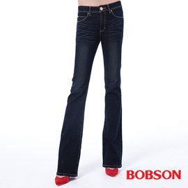 ~BOBSON~女款保暖布.小喇叭褲  藍9090~53
