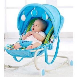 嬰兒多 搖搖椅子寶寶搖籃床 兒童哄睡安撫搖床嬰兒車~型男原創館~