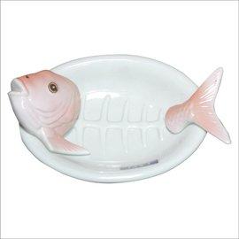 ~金玉堂文具~ 魚骨頭器皿 食器^(SAN243^)SUNART 陶瓷 鱈魚生魚片盤