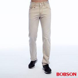 ~BOBSON~男款刷色半舊直筒褲 ^(米白1788~70^)