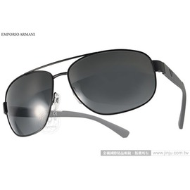 EMPORIO ARMANI 太陽眼鏡 EA2036 300187  黑~灰  男仕 率性