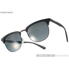 EMPORIO ARMANI 太陽眼鏡 EA4072 504287 ^(黑^) 率性 眉框