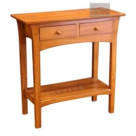 ~尚品傢俱~640~09 百分百柚木二抽長桌^~玄關桌書桌沙發背桌