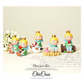 純真之美~浪漫深情小王子 別緻擺飾情人 玫瑰與狐狸全套五款入~Chic Casa 奇可家居