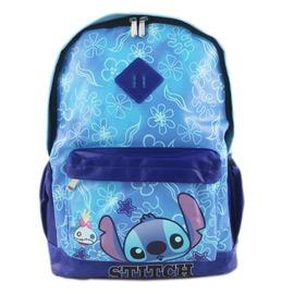 ~卡漫屋~ 史迪奇 後背包 藍色 花紋版 ㊣版 外出包 皮革 豬鼻子 背包 書包 旅行包