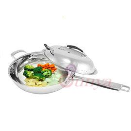 BI系列~CI~3305 五層複合金炒菜鍋^(不鏽鋼多層覆合金 不沾鍋 防燙提把 掛鉤鍋蓋
