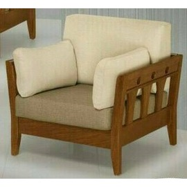 型舍  ZUK42~3  美式 正非洲花梨木實木組椅 單人座