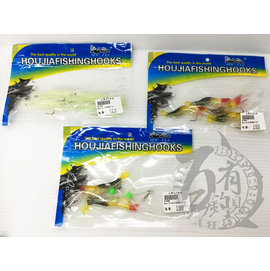 ◎百有釣具◎欣洲 Hou Jia 天平蝦型軟餌帶鉤  顏色隨機出貨