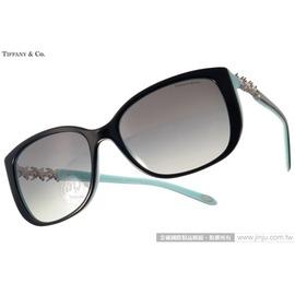 Tiffany CO.太陽眼鏡 TF4090B 80553C ^(黑~蒂芬妮綠^) 奢華花