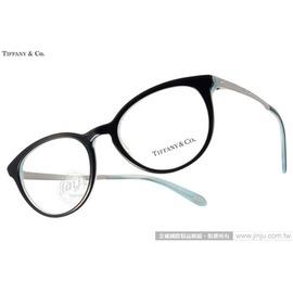 Tiffany CO.光學眼鏡 TF2128B 8193  黑~銀   別緻小貓眼款 平光