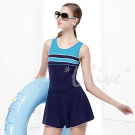~小薇的店~MIT聖手品牌簡約圓點風格 連身褲裙泳裝 1180元 NO.A88413^(S