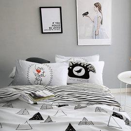 ~PAINT~北歐風格,插畫帳篷,精梳棉,雙人床包,兩用薄被套四件組( + )A00103