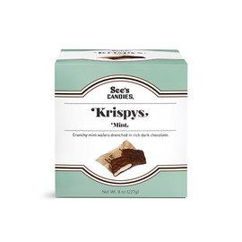 美國See s Candy Mint Krispys 薄荷威化巧克力脆片 8盎司裝