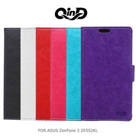 *PHONE寶*QIND 勤大 ASUS ZenFone 3 ZE552KL 5.5吋 水晶帶扣插卡皮套 插卡側翻皮套