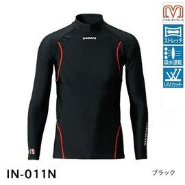 ◎百有釣具◎SHIMANO IN-A11N 防曬衣 釣魚衫(長袖) #黑色XL / #灰色2XL 海外版 零碼特價 現貨數量如賣廠庫存 售完為止