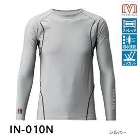 ◎百有釣具◎SHIMANO IN-A10N 防曬衣 釣魚衫(長袖) #灰色2XL 海外版 零碼特價 現貨數量如賣場庫存 售完為止